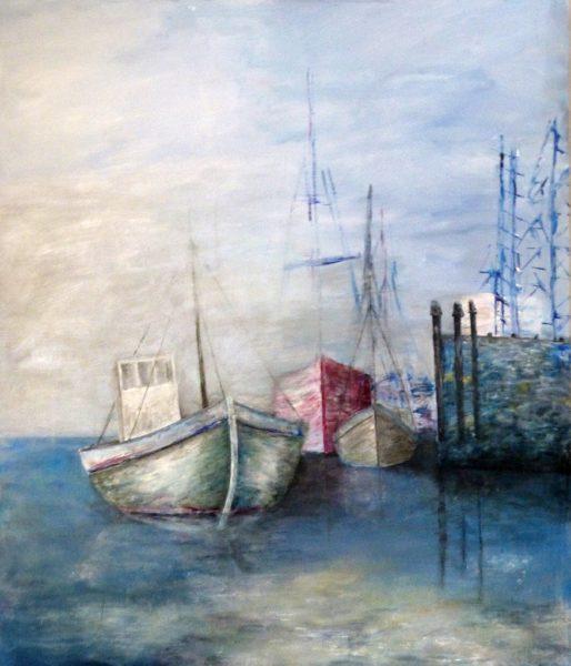 alte Schiff im Hafen
