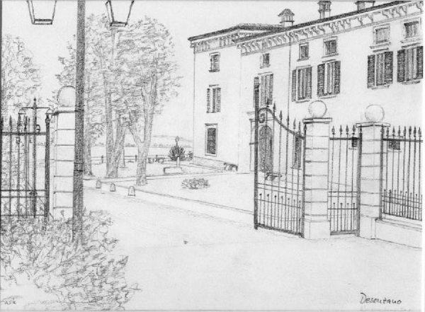 Zeichnung Castello Belvedere Desenzano