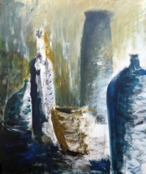 Gemälde Flaschen Stillleben
