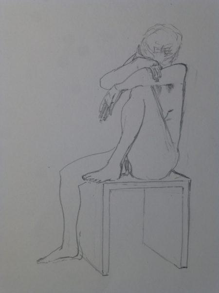 Akt Bleistiftzeichnung Angelika Sobek-Kistner