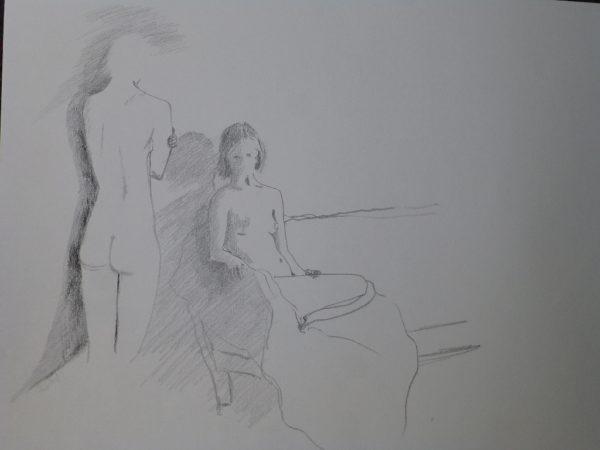 Akt Bleistiftzeichnung