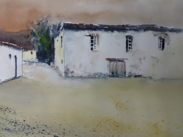 altes Haus auf Zypern Aquarell Angelika Sobek-Kistner