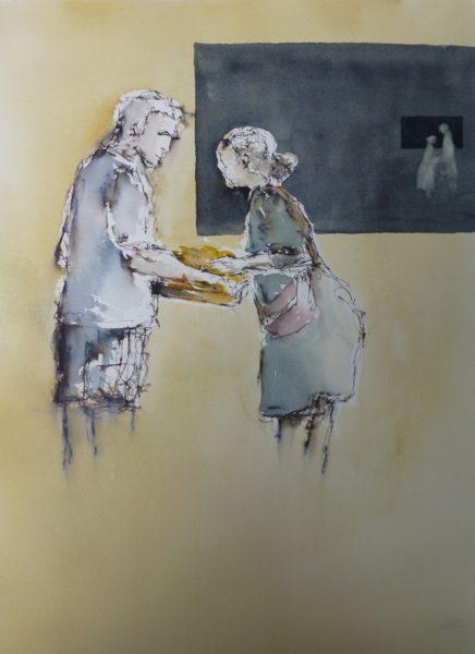 Marktszene Aquarell Angelika Sobek-Kistner
