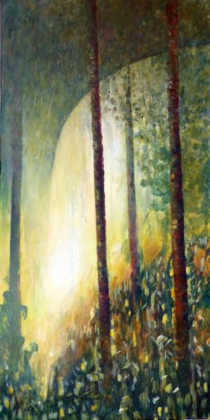 mystisch Wald Licht - Acryl - Angelika Sobek-Kistner