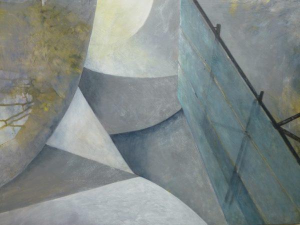 Guggenheim Museum Bilbao, architektonisches Detail, Gemälde