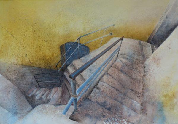 St.Hilarion, North Cyprus, Painting, Angelika Sobek-Kistner